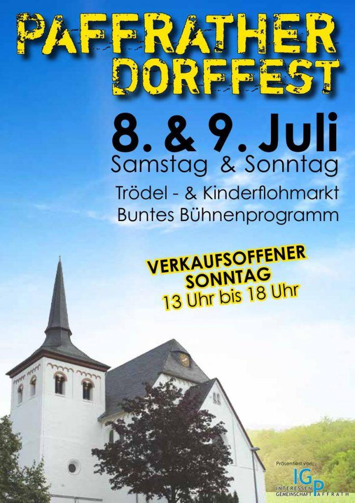 Paffrather Dorffest 8 & 9. Juli 2017